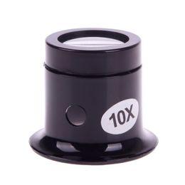 Vente en gros-1 Pcs 10x montre loupe bijoutier loupe oeil de verre Len outil de kit de réparation # 49945 en Solde