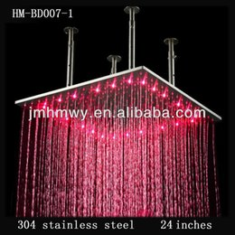 24 Inches Led Ceiling Rain Shower Head HM BD007 1 160305# 24 Inch Rain  Shower Heads Deals