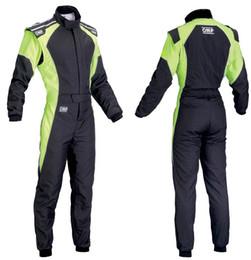 Новый прибывающий автомобиль гоночный костюм комбинезон брюки брюки набор оранжевый зеленый синий размер XS..4XL мужчины и женщины носят не огнеупорные