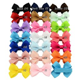 Barato Multi Cor Alligator Clips-Everweekend 20 Color 6 * 4 CM Baby Girls Bowknot Clips de cabelo Candy Color Bow Hairpins Acessórios para cabelo com jacarés Clips