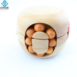 Wholesale-Free shipping Ball Wooden Puzzle Brain Teaser Gift_SP119