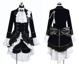 Wholesale female ciel phantomhive cosplay for sale - Group buy Black Butler Cosplay Ciel Phantomhive Dark Blue Costume Custom made in Any size
