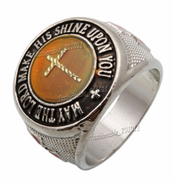 "$enCountryForm.capitalKeyWord UK - Oversize Cross Color Finger Changing Silver Plated MAN Mood "" MAY THE LORD MAKE HIS SHINE UPON YOU "" MANS Rings FREE"