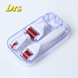 Titanium Derma Facial Roller Canada - Microneedle dermaroller 1.0mm 300 720 1200 titanium needles 4 in 1 derma roller for facial care