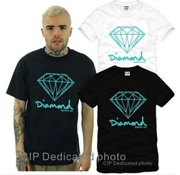 diamond supply tee shirts Australia - New Summer Cotton Mens T Shirts Fashion Short-sleeve Printed Diamond Supply Co Male Tops Tees Skate Brand Hip Hop Sport Clothes Tee Shirt