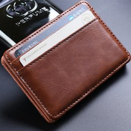 Magic wallets online shopping - New Mens Money Clip Leather Billfold Clamp Wallets Magic Wallet Card Holder Money With Card Hold