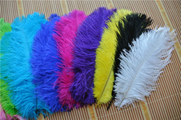 ostrich feather centerpiece purple UK - Wholesale 100pcs lot 12-14inch(30-35cm) white Royal Blue Red Black Turquoise Orange Gold green purple Ostrich Feather wedding centerpiece