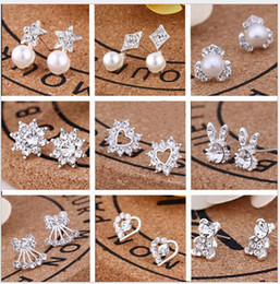 $enCountryForm.capitalKeyWord Canada - Wholesale Lowest Price Women Pearl Earrings Stud Ear 925 Sterling Silver Stud Charm Earrings Fashion Accessories for Lady Girl Evening Party