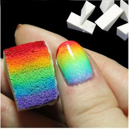 Barato Kits De Manicure Diy-Atacado- Magic Nail Art Sponge Gradual Color Stamper DIY Design Kit Deco Polonês Esponja Nail Brush Stamping Manicure Nail Buff