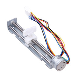 Chinese  Universal High Speed DC 4-9V Drive Stepper Motor Screw With Nut Slider 2 Phase 4 Wire Lead MAC_02N manufacturers