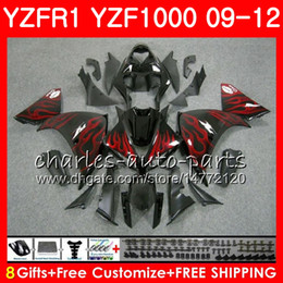 $enCountryForm.capitalKeyWord NZ - Bodywork For YAMAHA YZF 1000 R 1 YZF-1000 YZF-R1 09 12 red flames Body 85NO11 YZF1000 YZFR1 09 10 11 12 YZF R1 2009 2010 2011 2012 Fairing