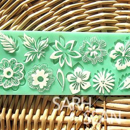 $enCountryForm.capitalKeyWord Australia - L024 flower leaf lace mold cake mould silicone baking tools kitchen accessories decorations for cakes Fondant