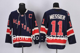 new jersey fashion 2019 - 2014 NWT New York Rangers Mark Messier Navy blue Jersey #11 Ice Hockey Jerseys 3rd Third Fashion All Stitching Good Qual
