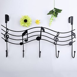 Discount Wall Decor Music Notes   Wholesale  Vintage Metal Music Note Hook  Coat Hat Bag