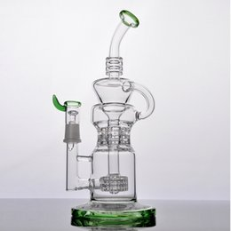 $enCountryForm.capitalKeyWord NZ - New Style glass bong with tire recycler two function 14mm standard female joint High quality Thick Glass Free Shipping