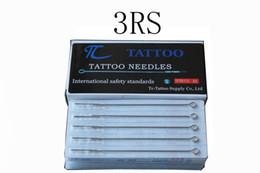 Venta al por mayor de 50 UNIDS Agujas Profesionales de Tatuaje 3 s Solo Magnum Esterilizar Agujas de Tatuaje 3RS Material Médico de Acero Inoxidable Envío Gratis