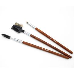 Hair Pcs Canada - Makeup Brushes Synthetic Hair Wool Eyelash Contour Brush 6 pcs lot Wood handle single Brushes Set Makeup Brush Lip brush Jenny 16#17#18#
