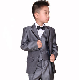 China Children suit men's cultivate one's morality boy wedding flower girl dress costumes three-piece little 3 (jacket + vest + pants) custom made supplier girl wedding dresses jacket suppliers