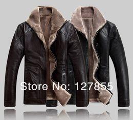 $enCountryForm.capitalKeyWord Canada - Fall-Free shipping NEW winter mens fur collar genuine sheepskin leather jacket , Big yards warm leather coat parka 4XL,5XL