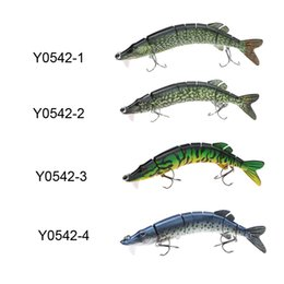 "Soft Bait Pike Canada - LIXADA 8-segement Artificiais Pike Lure 8"" 20cm Swimbait Muskie Fishing Lure 67g Crankbait Hard Bait Lures Pesca Fishing Tackle"