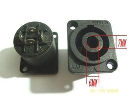 $enCountryForm.capitalKeyWord Canada - 50 pcs Speakon 4 Pin Female Jack Compatible Audio Cable Connector Black