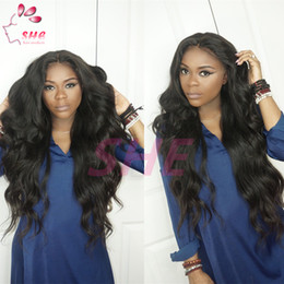 Cheap deep wave virgin half wigs online shopping - Lace Front Full Lace Wigs body wave inch In Stock Unprocessed Cheap Grade A Brazilian Virgin Human Hair Wigs