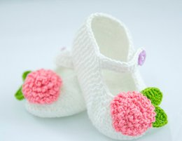 Baby Shoes Booties NZ - Hot sale handmade infant booties toddler shoes baby girl shoes boots Crochet Shoes, Girls Shoes, Shoes with flower, baby booties