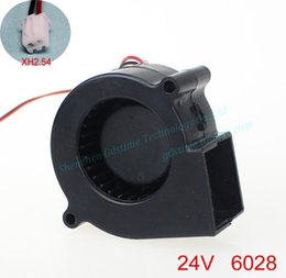 Discount dc centrifugal blower - Wholesale- New Original GDSTIME DC 24V 0.10A 6CM 6028 60*28MM centrifugal humidifier air purifier Blower cooling fan