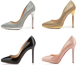 China [Original box] High-quality Brand bottom Pumps Luxury gift Women high heels shoes red Classic Paris party shoes Heel height:10&12CM suppliers