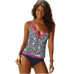 314bcef094 S-5XL Sexy Striped Tankini Bathing Suit Brazilian Bikini Sport Shorts  Swimsuit Women ladies swimming sets new Beachwear Plus Size swimwear