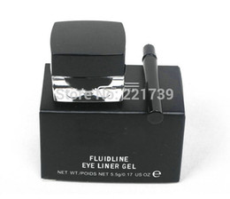 Gel Eyes Liner Canada - high quality Brand makeup waterproof eyeliner gel,make up eye liner, w  logo , via DHL fast free shipping