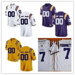$enCountryForm.capitalKeyWord Canada - Custom LSU Tigers College Football white purple gold Personalized Stitched Mens Any Name Any Number embroidery Jerseys S-3XL
