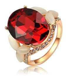 $enCountryForm.capitalKeyWord Canada - Womens Oval Shape Cut Red Zircon Engagement Wedding Rose Gold Ruby Ring Pave Crystal Opal Band
