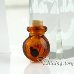 small cremation urns 2019 - small glass vials wholesale dog pet memorial jewelry cremation urn jewelry