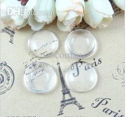 $enCountryForm.capitalKeyWord Canada - Wholesale-A1903 Free Shipping!100pcs lot 25mm Good Quality Domed Round Transparent Clear Glass Cabochons Cameo settings Glass Cover