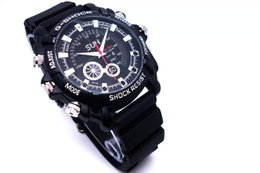Analog Digital Camera Canada - 2018 New HD 1080P Camera Watch Night Vision Waterproof Watch Photograph Real Time Clock Watch Round dial