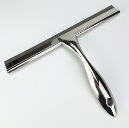 Glass Clothes NZ - free shipping 202 stainless steel glass cleaner glass scratch Wiper Squeegees Household Cleaning