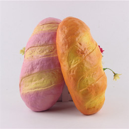 $enCountryForm.capitalKeyWord Canada - DHL Free Shipping New Lovely Squishy Super Bread 25cm Slow Rising Scented Collection Gift Decor Soft Squeeze Decompression Toy