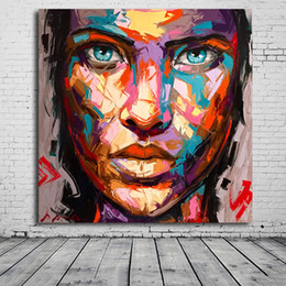 $enCountryForm.capitalKeyWord Australia - 1 Piece HD Printed Nielly Francoise People Face Giclee Art Printed On Canvas Modern Wall Picture Painting No Framed