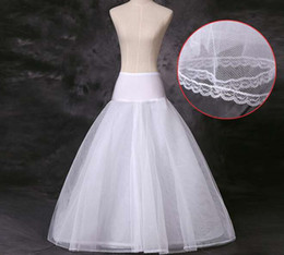 Crinolines Pour Les Robes De Bal Pas Cher-En Stock Petticoats Cheap 2016 Crinoline White A-Line Brick Underskirt Slip No Hoops En Pleine longueur Petticoat pour Evening Prom Wedding Dress