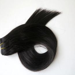 $enCountryForm.capitalKeyWord Canada - 100% human hair weft Brazilian hair weaves 100g 20inch #1B Off Black Straight hair bundles Indian hair Extensions free comb