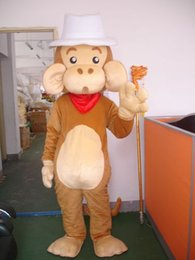 Barato Bonecas Para Venda-Factory Outlets Hot Sale Big ears Monkey Doll Halloween Fantasia Dress Cartoon Adult Animal Mascot Costume Frete grátis