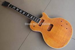 $enCountryForm.capitalKeyWord Canada - China guitar KIT Electric guitar Ebony fingerboard frets binding mahogany body Semi-finished products wooden natural 120315