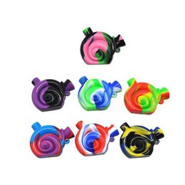 $enCountryForm.capitalKeyWord NZ - 2017 Snail shaped Travel Mini Silicone Bongs The Martian Silicone Blunt Bubbler Smoking Bubble Small Water Pipes Hand Pipe