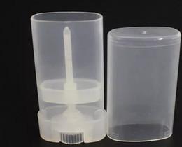 $enCountryForm.capitalKeyWord Australia - Portable DIY 500PCs lot 15ml Plastic Empty Oval Lip Balm Tubes Deodorant Containers Clear White Lipstick Fashion Cool Lip Tubes a178-a185