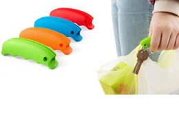 Discount silicone bag handles - new creative kitchen tool Hot selling Silicone Mentioning dishes Bag hanging Carry bag handle Christmas gifts 4 colors
