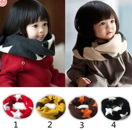 Discount wholesale candy korean - Children fashion Candy color scarf 2015 new boy girl Korean fashion Stars Candy color Pure cotton scarf B001