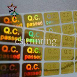 Commercio all'ingrosso 2021 Garanzia personalizzata Hologram Leaders Stickers personalizzato Logo Design Singola stampa nera con effetto arcobaleno nelle luci in Offerta