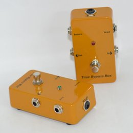 Wholesale NEW True Bypass Looper Effect Pedal Guitar Effect Pedal Looper Switcher true bypass Yellow