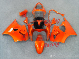 Yellow Kawasaki Canada - All Glossy Orange Injection Fairings Bodywork kit Kawasaki Ninja ZX6R 2000-2002 30
